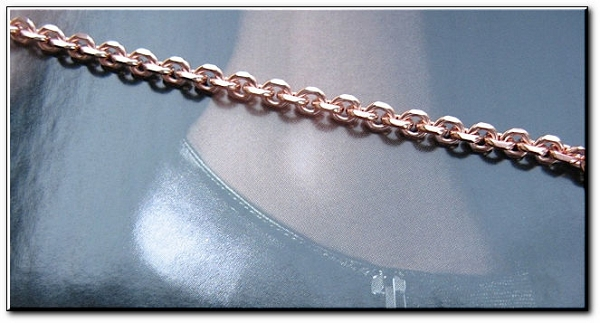 Solid Copper Anklet CA671G - 1/8 inch wide - Available in 8 to 12 inch lengths