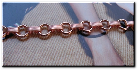 Solid Copper Anklet CA679G - 5/16 of an inch wide - Available in 8 to 12 inch lengths