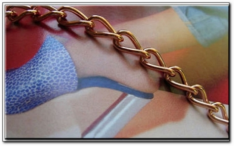 Solid Copper Anklet CA693G - 3/16 of an inch wide - Available in 8 to 12 inch lengths