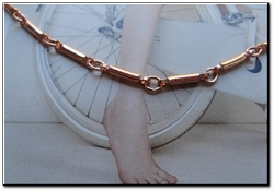 Solid Copper Anklet CA604G - 1/16 of an inch wide - Available in 8 to 12 inch lengths