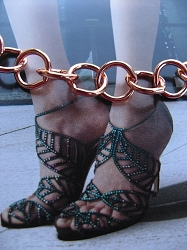 Solid Copper Anklet CA629G - 3/8 of an inch wide - Available in 8 to 12 inch lengths