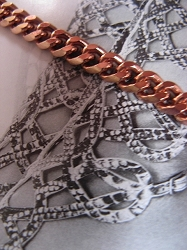 Solid Copper Anklet CA707G - 3/16 of an inch wide - Available in 8 to 12 inch lengths