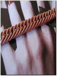 Ladies Solid Copper 7 1/2 Inch Bracelet CB631G - 3/16 of an inch wide