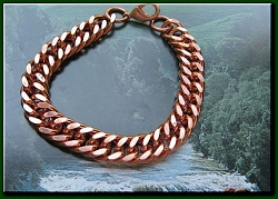 Men's 9 1/2 Inch Solid Copper Bracelet CB638G  - 7/16 of an inch wide