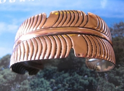 Women's 7 Inch Copper Cuff Bracelet CB6445C - 1 3/4 inches wide.