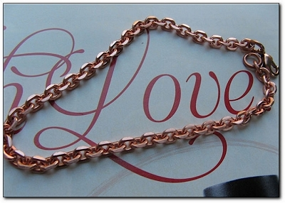 Solid Copper 7 Inch Bracelet CB663G - 1/8 of an inch wide