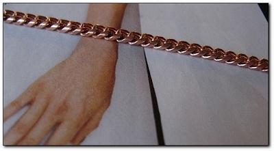 Solid Copper 7 1/2  Inch Bracelet CB664G - 1/8 of an inch wide