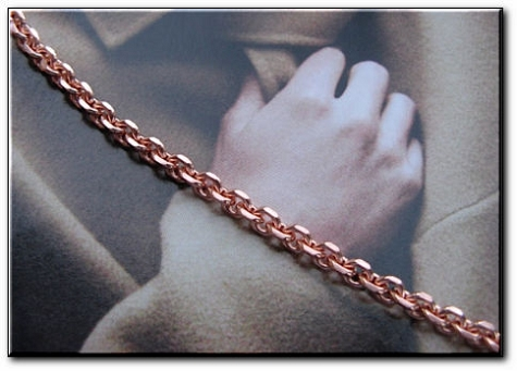 Ladies Solid Copper 7 1/2 Inch Bracelet CB671G - 1/8 of an inch wide