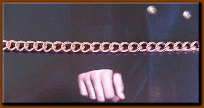 Ladies Solid Copper 7 1/2  Inch Bracelet CB674G - 1/8 of an inch wide