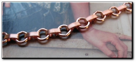 Ladies 7 1/2 Inch Solid Copper Bracelet CB679G  - 5/16 of an inch wide