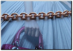 Ladies Solid Copper 7 Inch Bracelet CB605G - 1/4 of an inch wide
