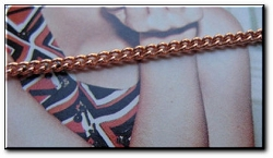 Solid Copper 7 1/2 Inch Bracelet CB611G - 1/8 of an inch wide