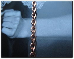 Solid Copper 7 1/2 inch Bracelet CB616G- 1/8 of an inch wide