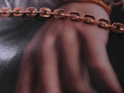 Solid Copper 7 1/2 inch Bracelet CB720G- 1/4 of an inch wide