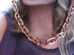 22 Inch Length Solid Copper Chain CN630G - 1/4 of an inch wide