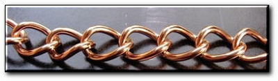 18 Inch Length Solid Copper Chain CN677G -  7/16 of an inch wide