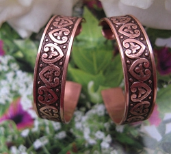 Solid Copper Hoop Earrings CE330CO2-  1 1/4 inch in diameter