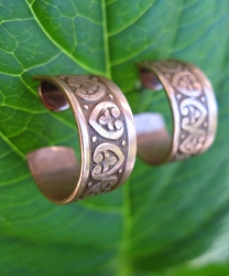 Solid Copper Hoop Earrings CE1061C02 -   5/8 of an inch in diameter