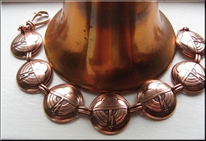 Solid Copper 7 Inch Bracelet CB5120 - 3/4 of an inch wide
