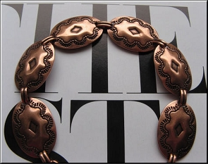Solid Copper 7 Inch Bracelet CB6070C- 3/4 of an inch wide