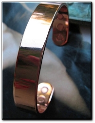 Men's 8 Inch Solid Copper Magnetic Cuff Bracelet CBM821 - 1/2 an inch wide