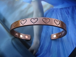 Ladies 7 Inch Solid Copper Magnetic Cuff Bracelet CBM217L- 5/16 of an inch wide.