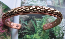 Men's 8 Inch Solid Copper Magnetic Cuff Bracelet CBM832- 1/4 of an inch wide.