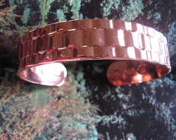 Men's 9 Inch Solid Copper Magnetic Cuff Bracelet CBM954 - 5/8 of an inch wide.