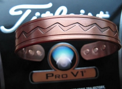 Men's 8 Inch Solid Copper Magnetic Cuff Bracelet CBM867- 9/16 of an inch wide.