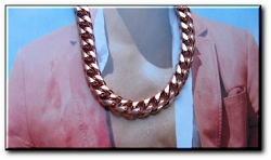 18 Inch Solid Copper Chain CN661G  - 3/8 of an inch wide