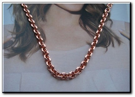 18 inch Length Solid Copper Chain CN671G - 1/8 of an inch wide