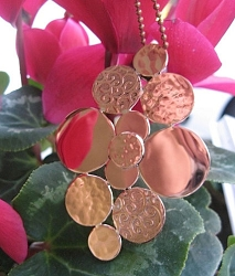 Copper Pendant and Chain Set #1098E