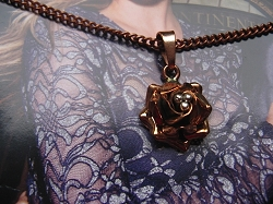 Copper Pendant and Chain Set #169E