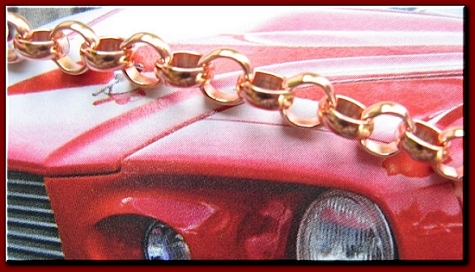 Men's 9 1/2 Inch Solid Copper Bracelet  CB685G  - 3/16 of an inch wide