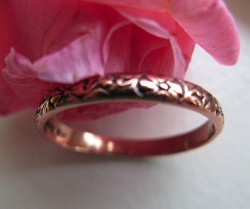 Copper Ring CR019- Size 8 - 1/8 of an inch wide.