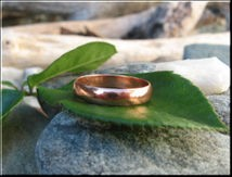 Copper Ring CR022 - Size 8 - 3mm  wide.