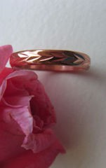 Copper Ring CR029- Size 3 - 1/8 of an inch wide.