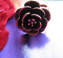 Copper Ring CR1387 Size  6 -  5/8 of an inch round.