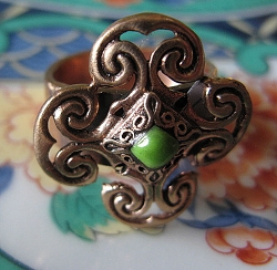 Solid copper Celtic Knot band Size 8  -CR2012- 7/8 of an inch wide.