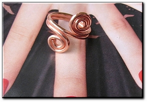 Copper Ring CR215AR - Size 8-  3/8 of an inch wide.