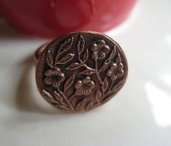 Copper Ring CR2190 Size  6 - 3/4  of an inch round