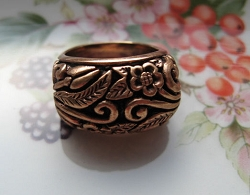 Copper Ring CR2211- Size 6 - 1/2 inch wide.