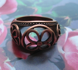 Copper Ring CR2610- Size 8- 1/2 inch wide.