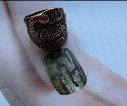 Copper Snake Ring CR2611 -  Size 8 - 1 inch tall.