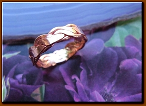 Copper Ring CR211AR - Size 6-  3/16 of an inch wide.