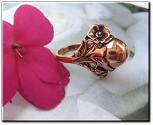 Copper Ring CR035 - Size 7 - 3/8 of an inch tall.