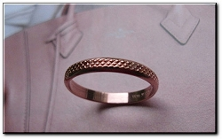 Copper Ring CR065 - Size 8 - 1/8 of an inch wide.