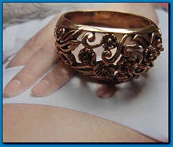Copper  Ring CR2682 - Size 8- 3/8 of an  inch wide.