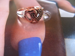 Copper Ring CTR1253 Size 8 - 3/8 of an inch wide.
