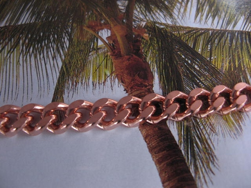 Ladies Solid Copper 7 Inch Bracelet CB646G - 3/8 of an inch wide